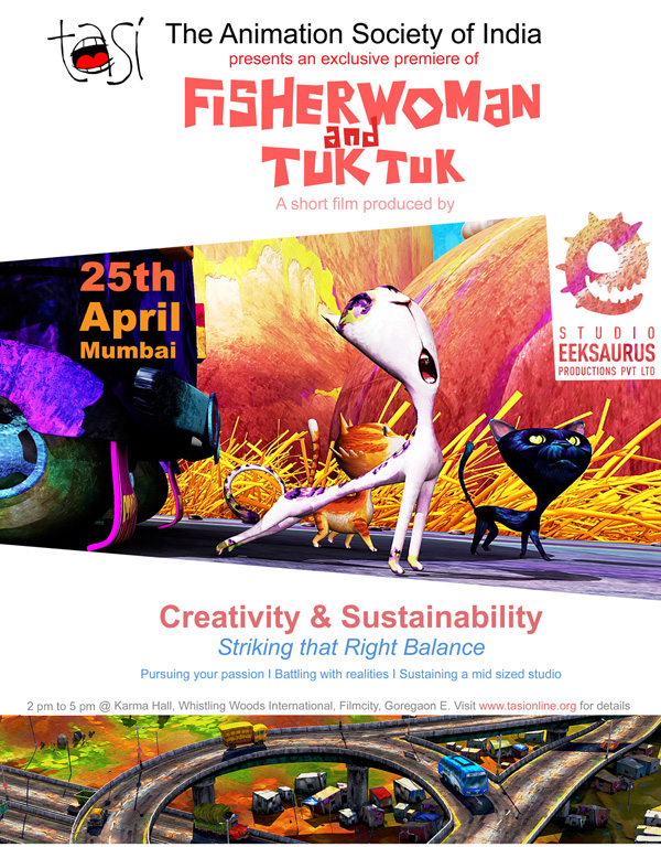TASI's Animation Workshop for Children in Hyderabad on 15th March 2015