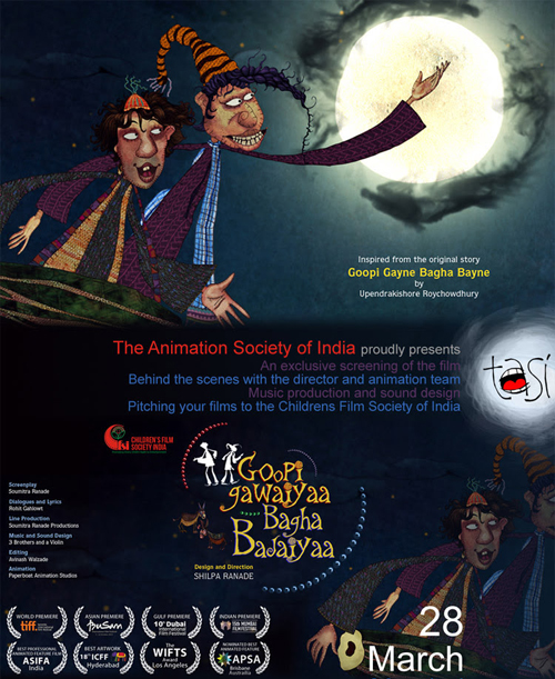 Exclusive Screening of Goopi Gawaiyya Bagha Bajaiyya & the making of the film